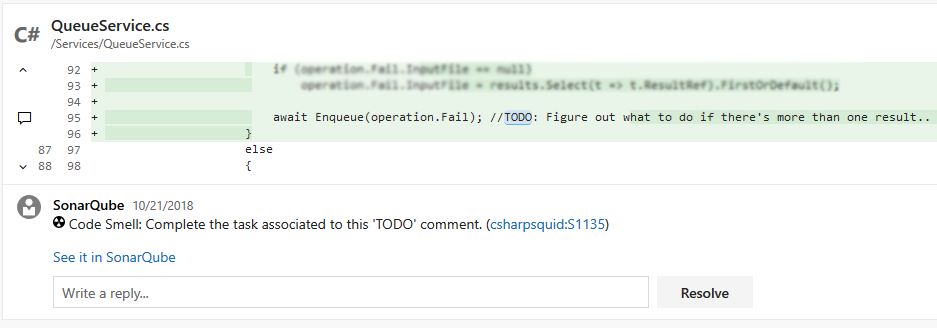 Installing and configuring SonarQube with Azure DevOps/TFS